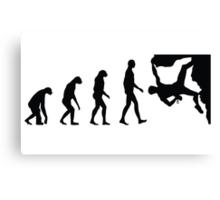 Evolution Climbing Canvas Print
