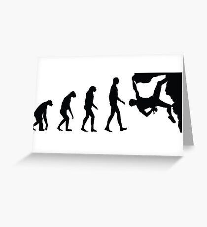 Evolution Climbing Greeting Card