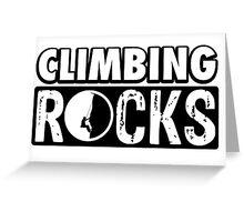 Climbing Rocks Greeting Card