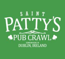 St Patty's Pub Crawl Kids Clothes