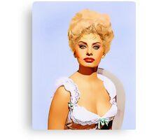 Sophia Loren in Heller in Pink Tights Canvas Print