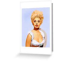 Sophia Loren in Heller in Pink Tights Greeting Card