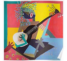 Acoustic Guitar / Electric Hair Poster