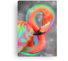 Infinite Possibilities - (Neon Infinity Flamingo) Metal Print