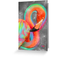 Infinite Possibilities - (Neon Infinity Flamingo) Greeting Card