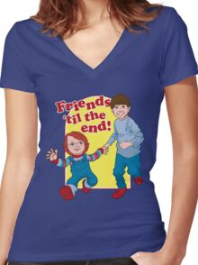 Friends Til the End Women's Fitted V-Neck T-Shirt