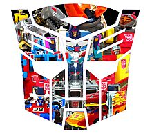 TRANSFORMERS FIGURES!!! Generation 1 Autobot Logo  Photographic Print