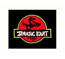 Jurassic Kart Art Print