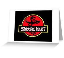 Jurassic Kart Greeting Card