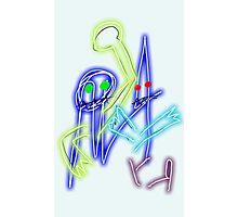 """Neon Robots"" by Richard F. Yates Photographic Print"