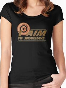I AIM TO MISBEHAVE Women's Fitted Scoop T-Shirt