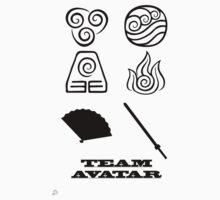 Avatar the Last Airbender: Team Avatar White Kids Tee