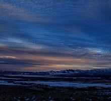 Feburary sunset Winnemucca nv by DonActon