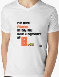 "Flappy Bird Shirt ""Flapping All Day..."" Mens V-Neck T-Shirt"