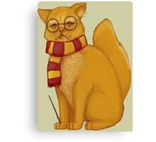 Gryffindor Cat Canvas Print