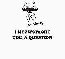 Cat Humor 'Meowstache' T-Shirt T-Shirt