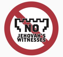 No Jehovah's Witnesses Sticker by fobbery