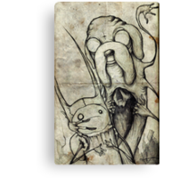 Adventure Time Darkness Canvas Print