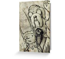 Adventure Time Darkness Greeting Card