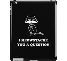 Cat Humor 'Meowstache' Case iPad Case/Skin