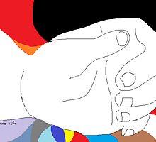 Hand -(110214)- Digital artwork/MS Paint by paulramnora