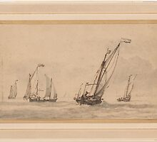 Willem van de Velde the Younger A Kaag in a Moderate Breeze, with the Wind on the Port Quarter by Adam Asar