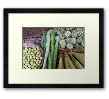food basket Framed Print