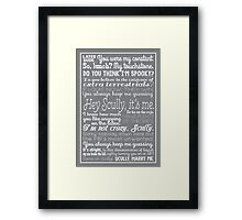 Fox Mulder Quotes Framed Print