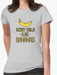 sorry girls i suck dick Womens Fitted T-Shirt
