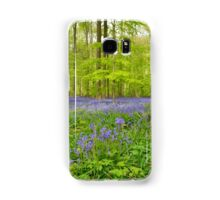 beautiful blue carpet of flowers of wild hyacinth Samsung Galaxy Case/Skin