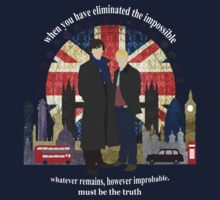Eliminate the Impossible (White Text) Kids Clothes