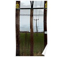 Pylons Painted Poster