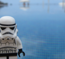 Dave Stormtrooper Tenerife by Pool Sticker