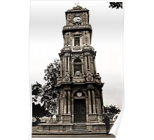 baroque tower in black and white. Poster
