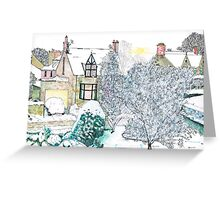 Snow scene number 2 Greeting Card