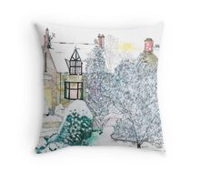 Snow scene number 2 Throw Pillow