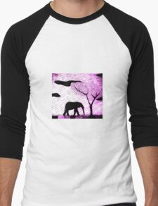 lone Elephant Men's Baseball ¾ T-Shirt