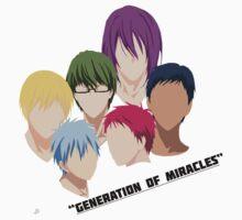 Kuroko no Basuke: Generation of Miracles by raviolidesigns