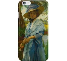 WILLIAM SAVAGE COOPER  PORTRAIT OF A GIRL iPhone Case/Skin