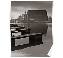 Canal basin in winter Poster