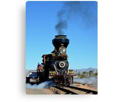 Steam Engine Train Canvas Print