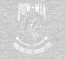 POW-MIA-NA  (White Lettering) One Piece - Long Sleeve