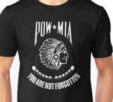 POW-MIA-NA  (White Lettering) Unisex T-Shirt
