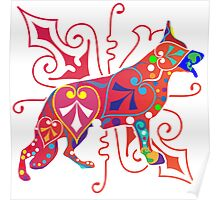 Psy German Shepherd dog Poster