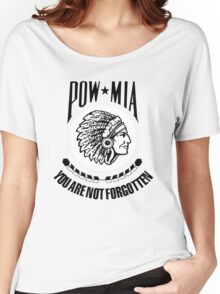 POW-MIA-NA (Black Lettering) Women's Relaxed Fit T-Shirt