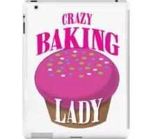 CRAZY BAKING LADY iPad Case/Skin