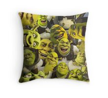 Shrek Collage  Throw Pillow