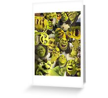Shrek Collage  Greeting Card