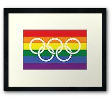 Rainbow Olympics Framed Print