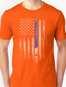 THIN BLUE LINE - STAR WARS - LIGHT SABER - THE FORCE T-Shirt